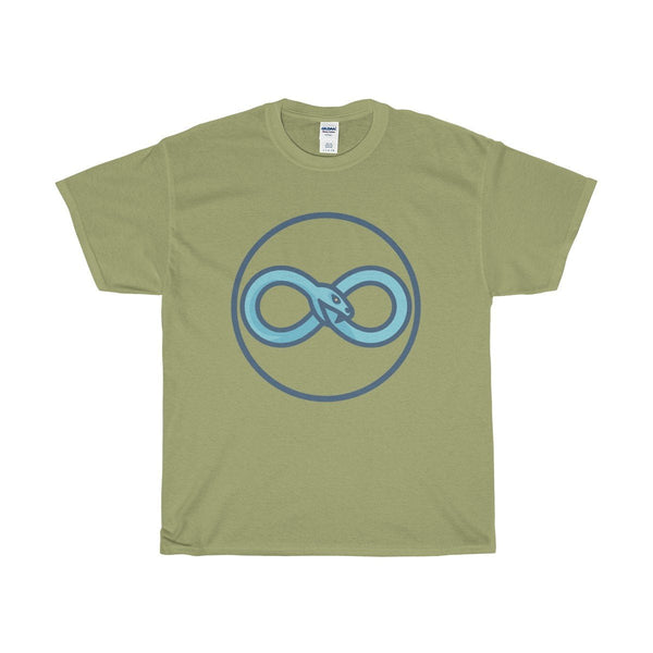 Unisex Heavy Cotton Tee, Infinity Snake Ouroboros Ancient Greek Symbol T-shirt