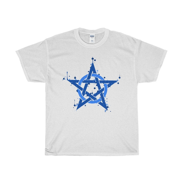 Unisex Heavy Cotton Tee Pentagram, Pentacle Symbol Wiccan Design T-shirt