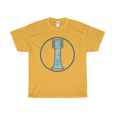 Unisex Heavy Cotton Tee, Djed Pillar, Ancient Egyptian Symbol T-shirt