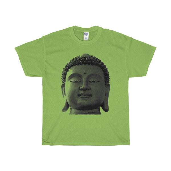 Unisex Heavy Cotton Tee Buddha Head Spiritual Design T-shirt