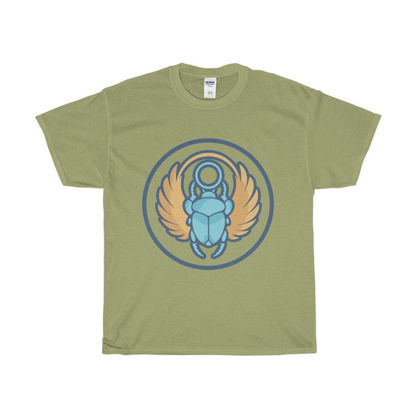 Unisex Heavy Cotton Tee, Ancient Egyptian Scarab Beetle Symbol T-shirt