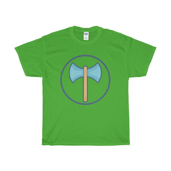 Unisex Heavy Cotton Tee, Labrys Double Sided Axe Symbol T-shirt