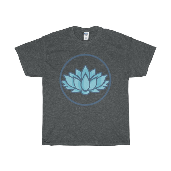 Unisex Heavy Cotton Tee, Lotus Flower Spiritual Symbol T-shirt