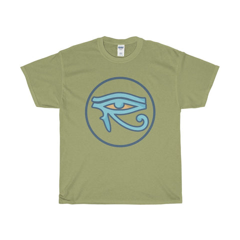 Unisex Heavy Cotton Tee, Eye of Horus Ancient Egyptian Symbol T-shirt
