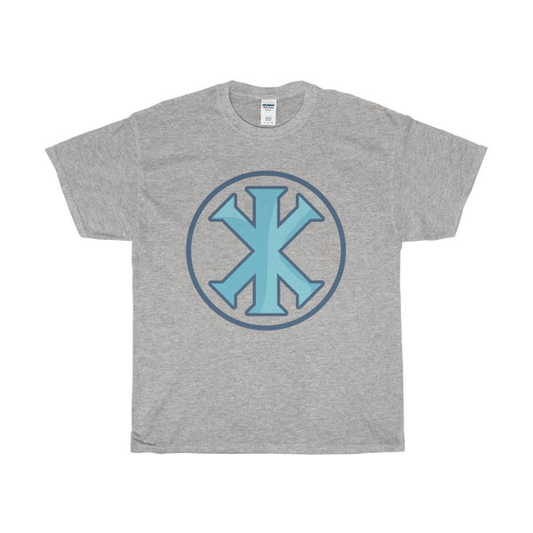 Unisex Heavy Cotton Tee, Christian IX Monogram Symbol T-shirt