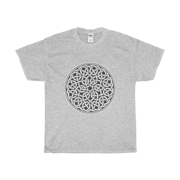 Unisex Heavy Cotton Tee, Celtic Knot Style Design, Wiccan Spiritual T-shirt