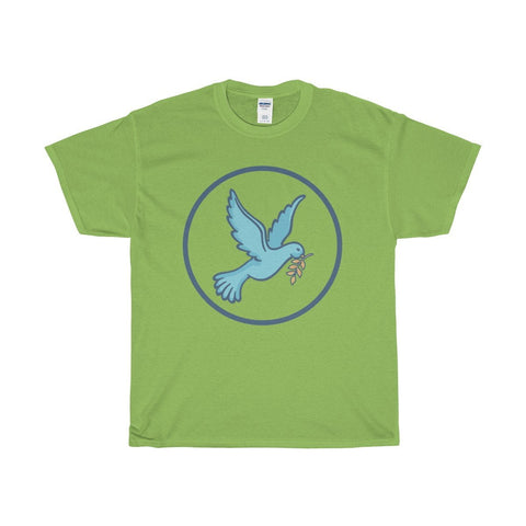 Unisex Heavy Cotton Tee, Christian Peace Dove Symbol T-shirt