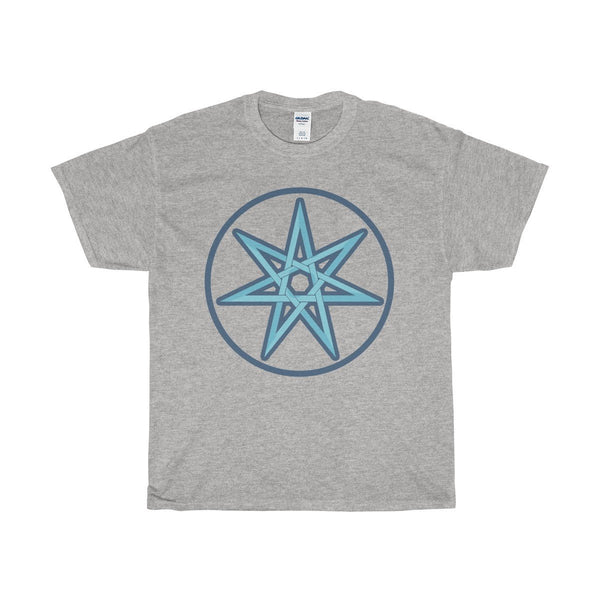 Unisex Heavy Cotton Tee, The Elven Star Wiccan Spiritual Symbol T-shirt