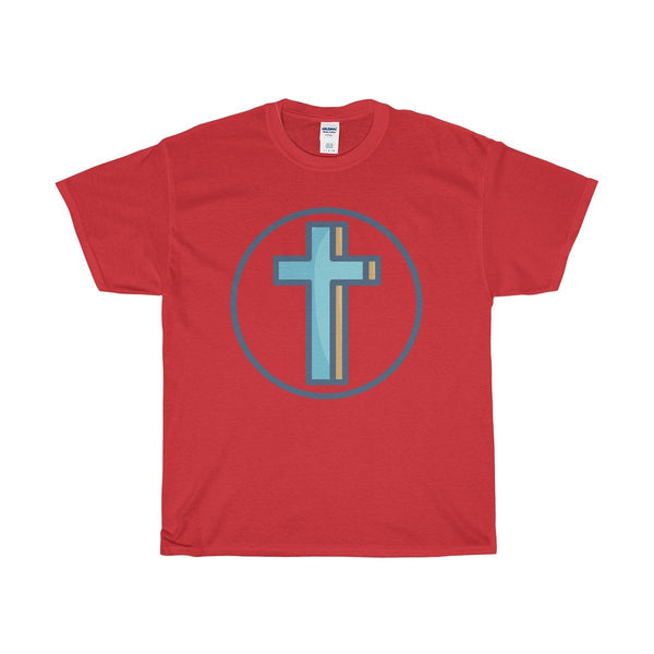 Unisex Heavy Cotton Tee, Christian Crucifix Cross Symbol T-shirt