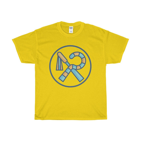 Unisex Heavy Cotton Tee, Ancient Egyptian Crook And Flail Symbol T-shirt