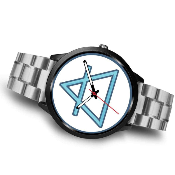 Air Element Alchemy Wiccan Symbol Custom-Designed Wrist Watch - Black Watch
