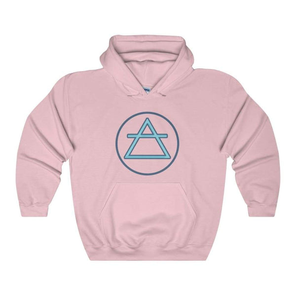 Air Element Alchemy Wiccan Symbol Unisex Heavy Blend Hooded Sweatshirt - Light Pink / S - Hoodie
