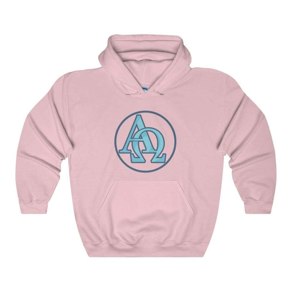 Alpha And Omega Christian Greek Symbol Unisex Heavy Blend Hooded Sweatshirt - Light Pink / S - Hoodie