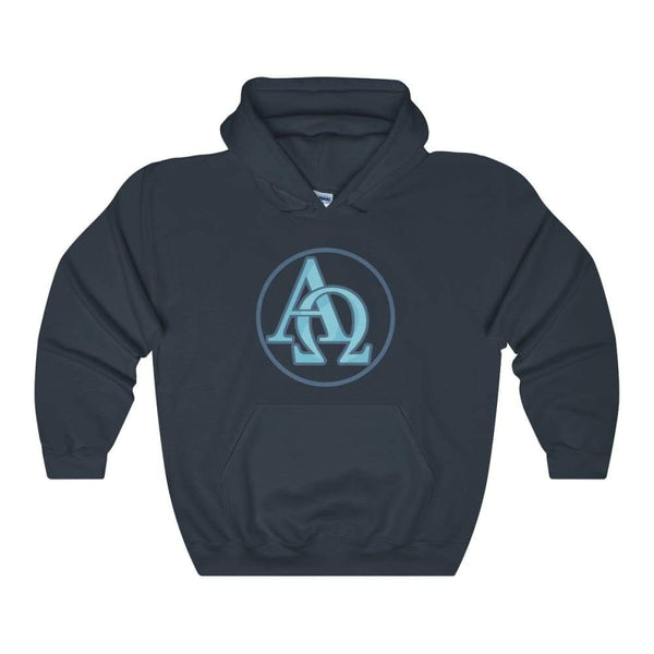 Alpha And Omega Christian Greek Symbol Unisex Heavy Blend Hooded Sweatshirt - Navy / S - Hoodie
