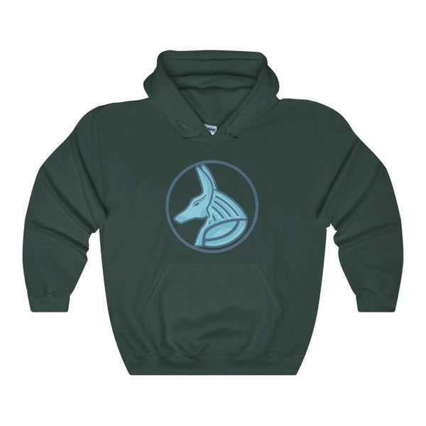 Ancient Egyptian God Anubis Symbol Unisex Heavy Blend Hooded Sweatshirt - Forest Green / S - Hoodie
