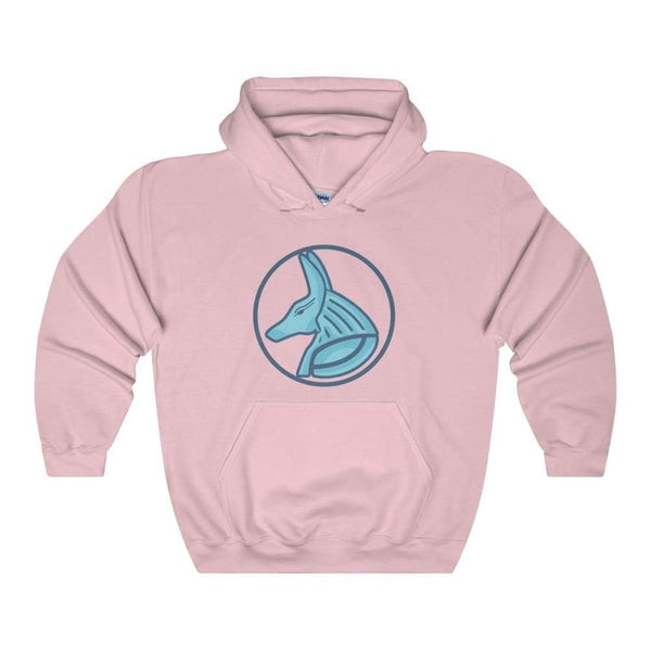 Ancient Egyptian God Anubis Symbol Unisex Heavy Blend Hooded Sweatshirt - Light Pink / S - Hoodie