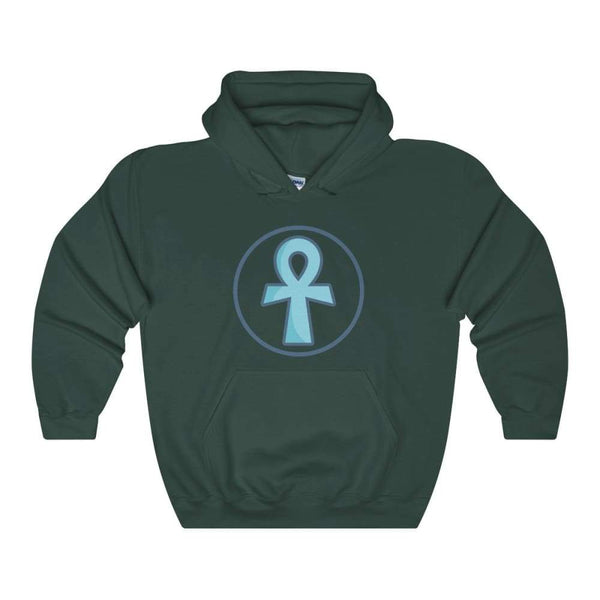 Ankh Cross Ancient Egyptian Symbol Unisex Heavy Blend Hooded Sweatshirt - Forest Green / S - Hoodie
