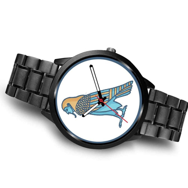 Ba Spirit Ancient Egyptian Symbol Custom-Designed Wrist Watch - Black Watch