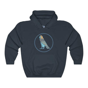 Ba Spirit Ancient Egyptian Symbol Unisex Heavy Blend Hooded Sweatshirt - Navy / L - Hoodie