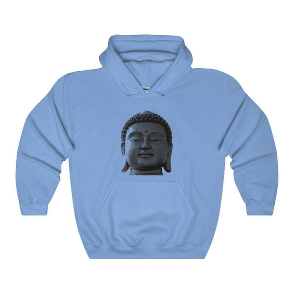Buddha Head Spiritual Unisex Heavy Blend Hooded Sweatshirt - Carolina Blue / S - Hoodie