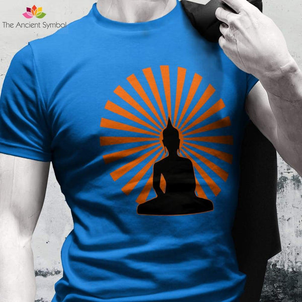 Buddha In The Enlightened Sun Yoga Pose Unisex Heavy Cotton Tee - T-Shirt
