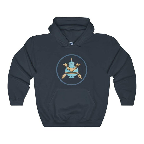 Buddhist Bumpa Base Spiritual Symbol Unisex Heavy Blend Hooded Sweatshirt - Navy / S - Hoodie