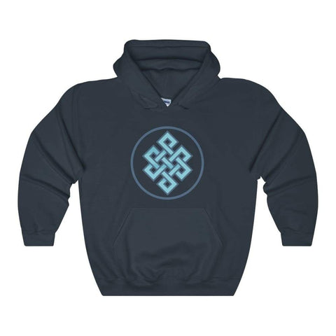 Buddhist Endless Knot Spiritual Symbol Unisex Heavy Blend Hooded Sweatshirt - Navy / L - Hoodie