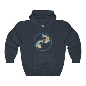 Buddhist Golden Fish Spiritual Symbol Unisex Heavy Blend Hooded Sweatshirt - Navy / L - Hoodie