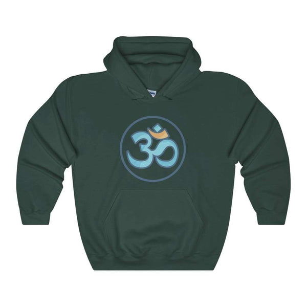 Buddhist Om Spiritual Symbol Unisex Heavy Blend Hooded Sweatshirt - Forest Green / S - Hoodie