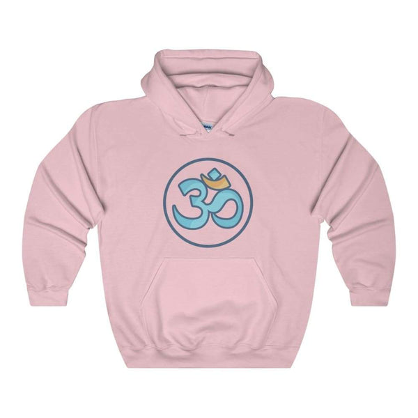 Buddhist Om Spiritual Symbol Unisex Heavy Blend Hooded Sweatshirt - Light Pink / S - Hoodie