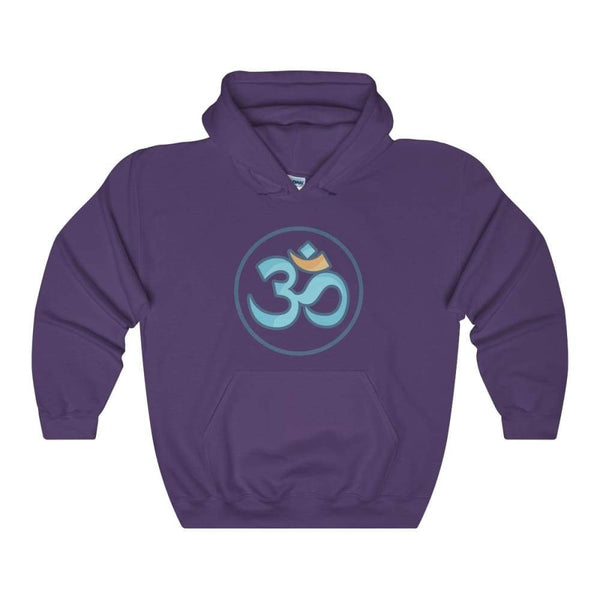 Buddhist Om Spiritual Symbol Unisex Heavy Blend Hooded Sweatshirt - Purple / S - Hoodie