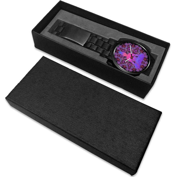 Buddhist Yoga Style Ornate Geometric Pattern Custom-Designed Wrist Watch - Watch