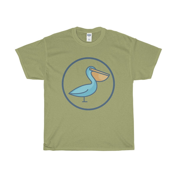 Unisex Heavy Cotton Tee, Pelican Christian Symbol T-shirt