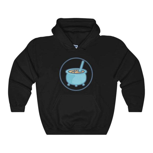 Cauldron Wiccan Pagan Symbol Unisex Heavy Blend Hooded Sweatshirt - Black / L - Hoodie