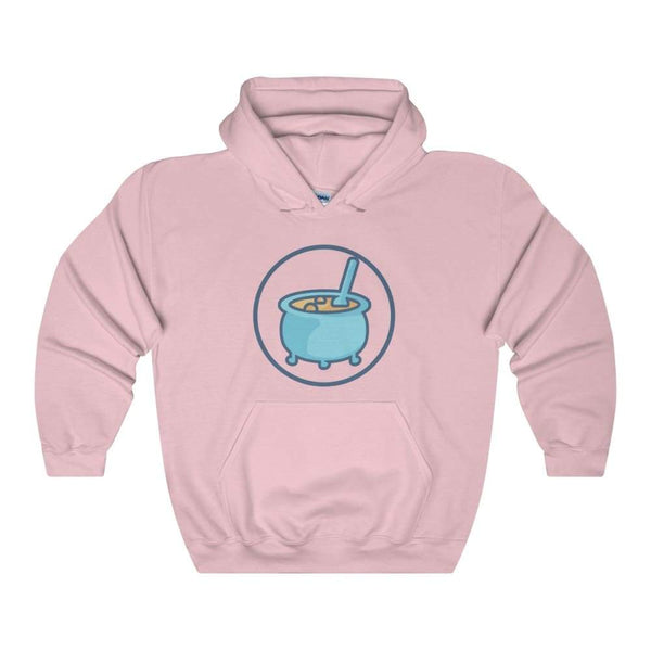 Cauldron Wiccan Pagan Symbol Unisex Heavy Blend Hooded Sweatshirt - Light Pink / S - Hoodie