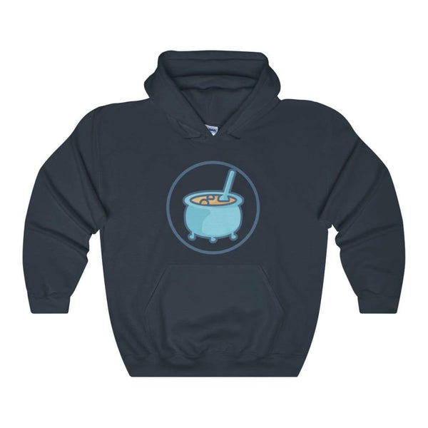 Cauldron Wiccan Pagan Symbol Unisex Heavy Blend Hooded Sweatshirt - Navy / S - Hoodie