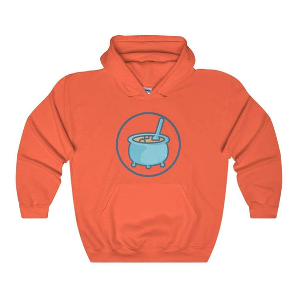 Cauldron Wiccan Pagan Symbol Unisex Heavy Blend Hooded Sweatshirt - Orange / S - Hoodie