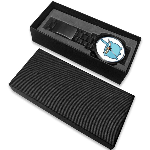 Cauldron Wiccan Spiritual Symbol Custom-Designed Wrist Watch - Black Watch