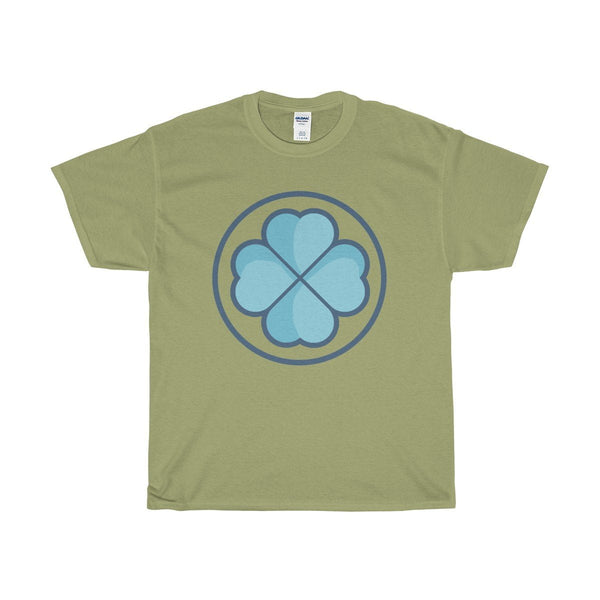 Unisex Heavy Cotton Tee, Lucky Clover Shamrock Christian Symbol T-shirt