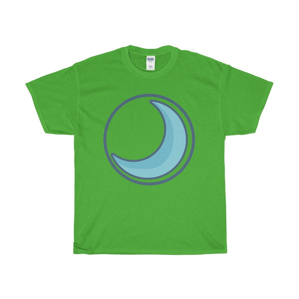 Unisex Heavy Cotton Tee, Crescent Moon, Wiccan Pagan Spiritual Symbol T-shirt