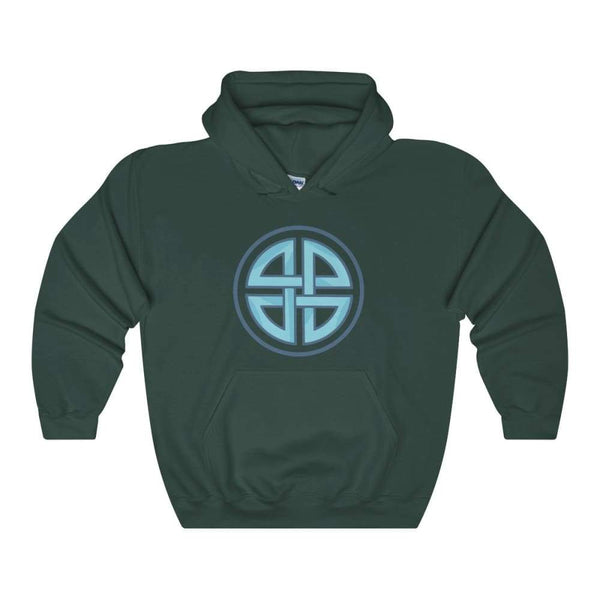 Celtic Shield Cross Pagan Wiccan Symbol Unisex Heavy Blend Hooded Sweatshirt - Forest Green / S - Hoodie