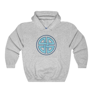 Celtic Shield Cross Pagan Wiccan Symbol Unisex Heavy Blend Hooded Sweatshirt - Sport Grey / L - Hoodie