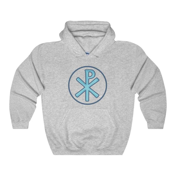Chi Rho Christogram Christian Symbol Unisex Heavy Blend Hooded Sweatshirt - Sport Grey / S - Hoodie