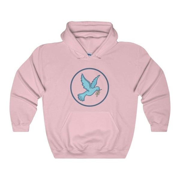 Christian Dove Peace Symbol Unisex Heavy Blend Hooded Sweatshirt - Light Pink / L - Hoodie