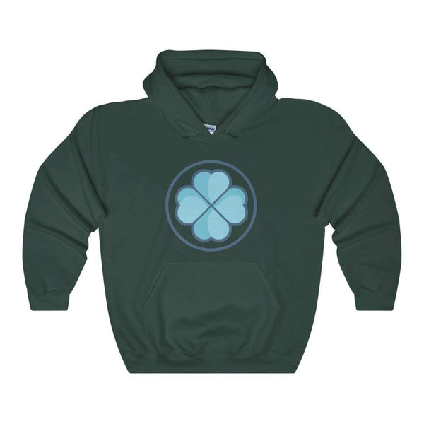 Clover Shamrock Lucky Symbol Unisex Heavy Blend Hooded Sweatshirt - Forest Green / S - Hoodie