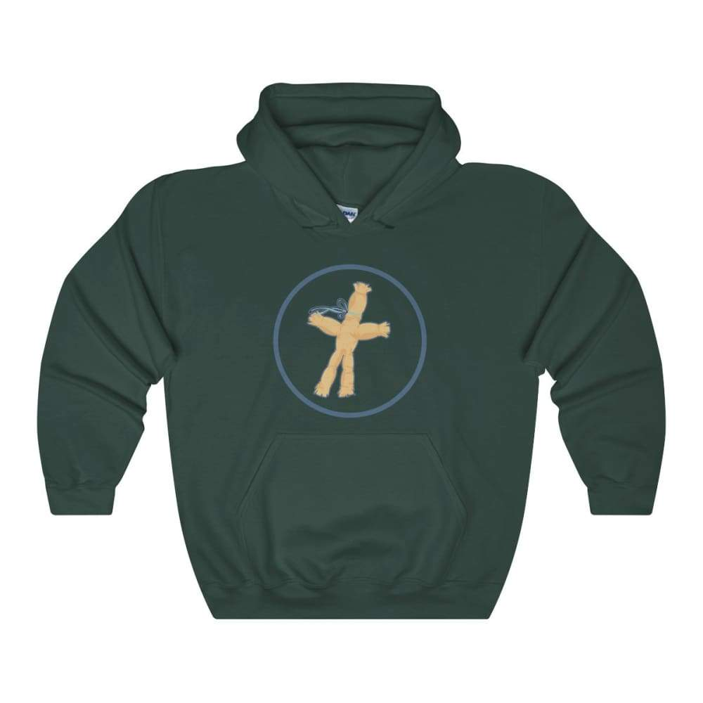 Corn Dolly Pagan Wiccan Symbol Unisex Heavy Blend Hooded Sweatshirt - Forest Green / L - Hoodie