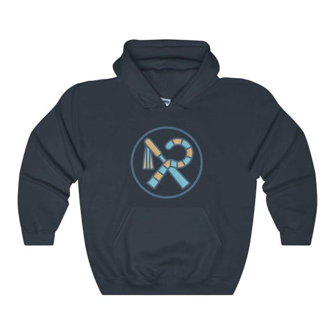 Crook And Flail Ancient Egyptian Symbol Unisex Heavy Blend Hooded Sweatshirt - Navy / L - Hoodie