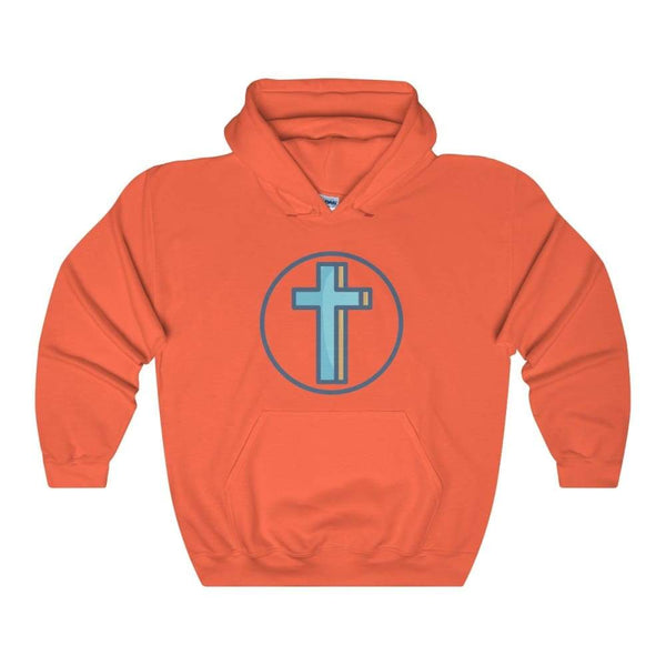 Crucifix Cross Christian Symbol Unisex Heavy Blend Hooded Sweatshirt - Orange / S - Hoodie