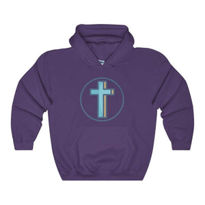 Crucifix Cross Christian Symbol Unisex Heavy Blend Hooded Sweatshirt - Purple / L - Hoodie