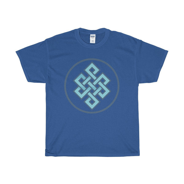 Unisex Heavy Cotton Tee, Buddhist Endless Knot Symbol T-shirt